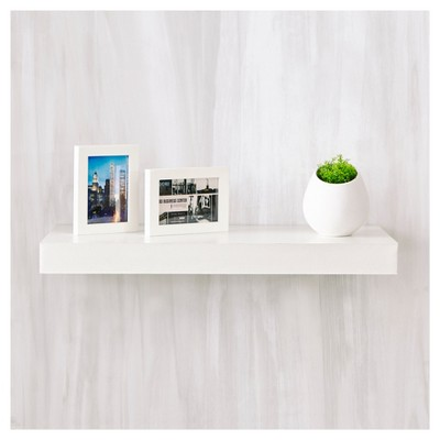way basics 24 eco wall shelf floating shelf natural white rh target com  free floating wall shelf plans