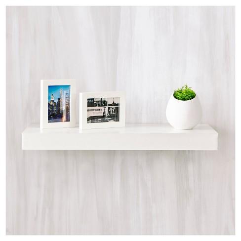 Way Basics 24 Eco Wall Shelf Floating Natural White Formaldehyde Free Lifetime Guarantee Target