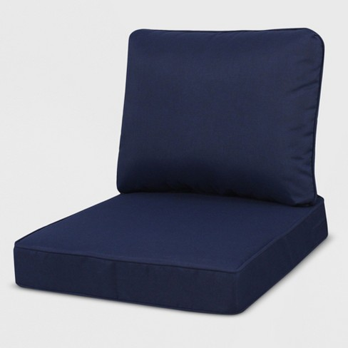 Pleasing Rolston Outdoor Seat And Back Chair Cushion Navy Grand Basket Ibusinesslaw Wood Chair Design Ideas Ibusinesslaworg