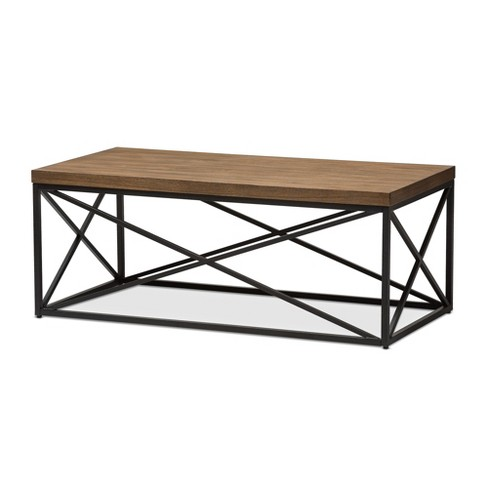 Holden Vintage Industrial Coffee Cocktail Table - Antique Bronze - Baxton Studio - image 1 of 6