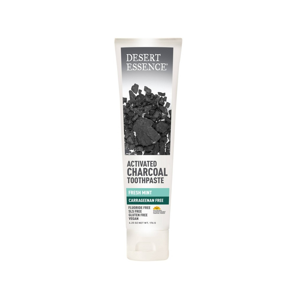 Image of Desert Essence Active Charcoal Carrageenan Free Toothpaste Fresh mint - 6.25oz