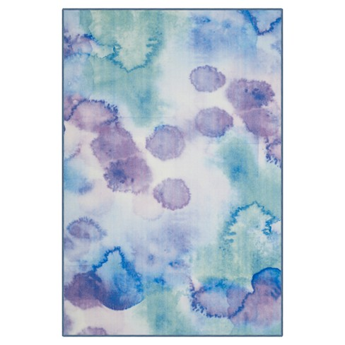 "Blue/Lavender Splatter Loomed Area Rug 6'7""X9'1"" - Safavieh - image 1 of 4"