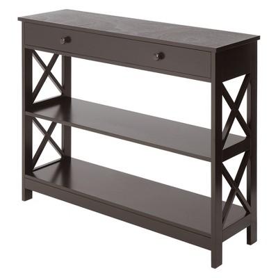 Oxford 1 Drawer Console Table Espresso - Breighton Home