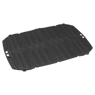 Use the Rubbermaid Mobile 1-Piece All-weather Cargo Utility Mat in cars, trucks, vans and SUVs. It keeps the utility area clean and tidy. This cargo m
