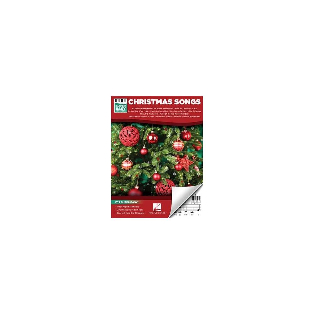 Christmas Songs - (Super Easy Songbook) (Paperback)