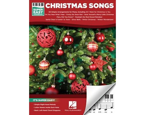 Christmas Songs -  (Super Easy Songbook) (Paperback) - image 1 of 1