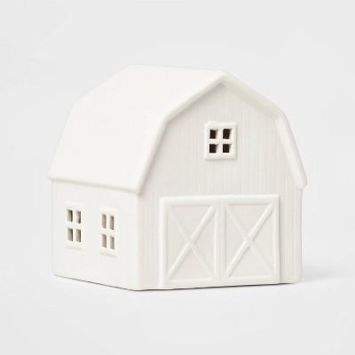 Ceramic Barn Decorative Figurine White - Wondershop™