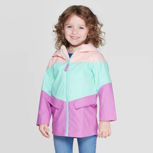 Toddler Girls' Solid Rain Coat - Cat & Jack™ Pink - image 1 of 3