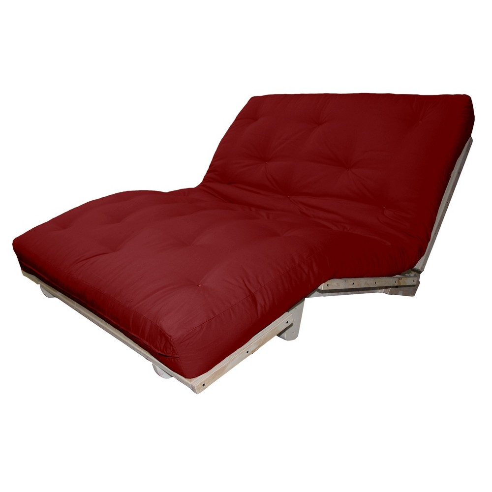 6 Austin True Cotton/Foam Sit, Lounge, or Sleep Futon Sofa Sleeper Bed Suede Fabric Khaki (Green) - Epic Furnishings