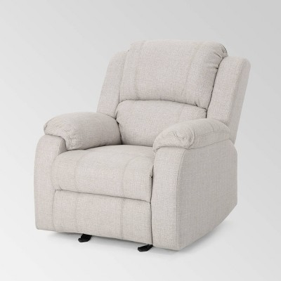 Mozelle Classic Gliding Recliner Beige - Christopher Knight Home