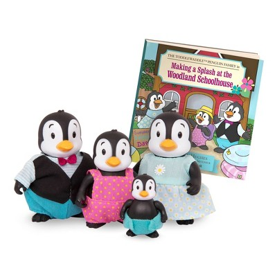 Li'l Woodzeez Miniature Animal Figurine Set – The Toddlewaddle Penguin Family