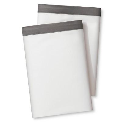 Banded Hem Supima Pillowcase Set Gray (King)Skyline Gray - Fieldcrest™