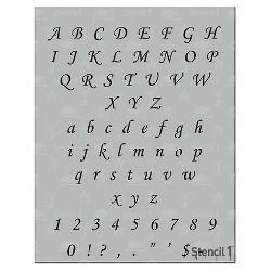 """Stencil1 Corsiva Font .5"""" - Letter Stencil 8.5"""" x 11"""""""