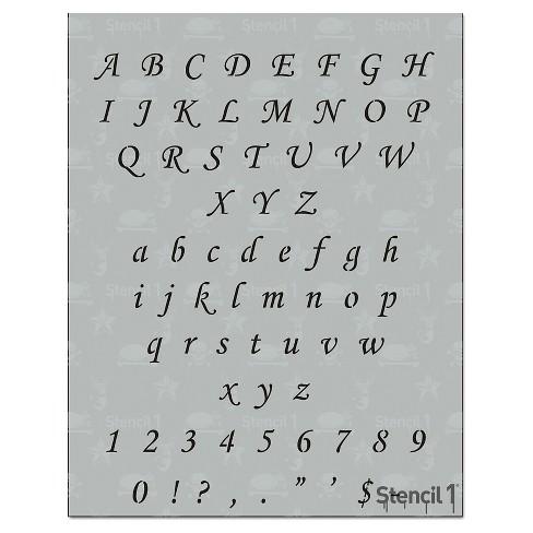 """Stencil1 Corsiva Font .5"""" - Letter Stencil 8.5"""" x 11"""" - image 1 of 3"""