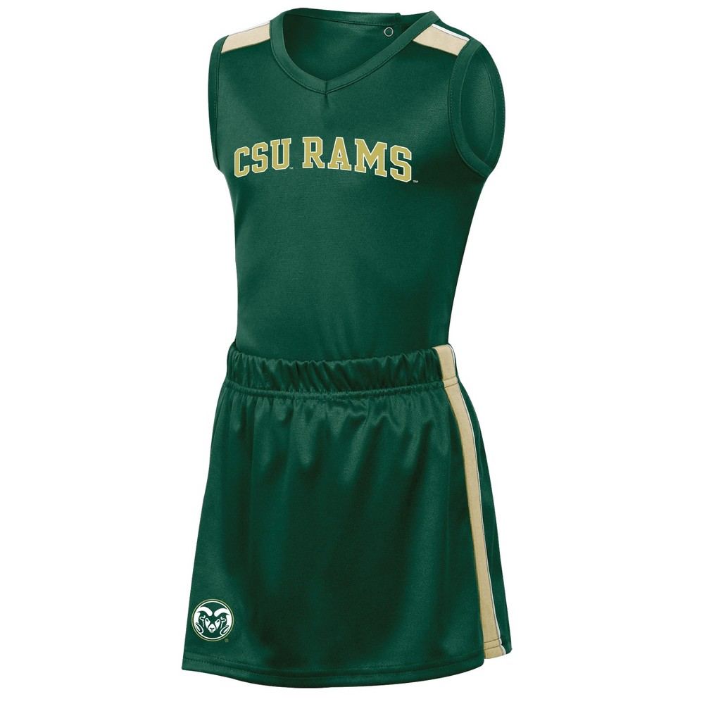 Colorado State Rams Girls' 3pc Cheer Set 12M, Multicolored