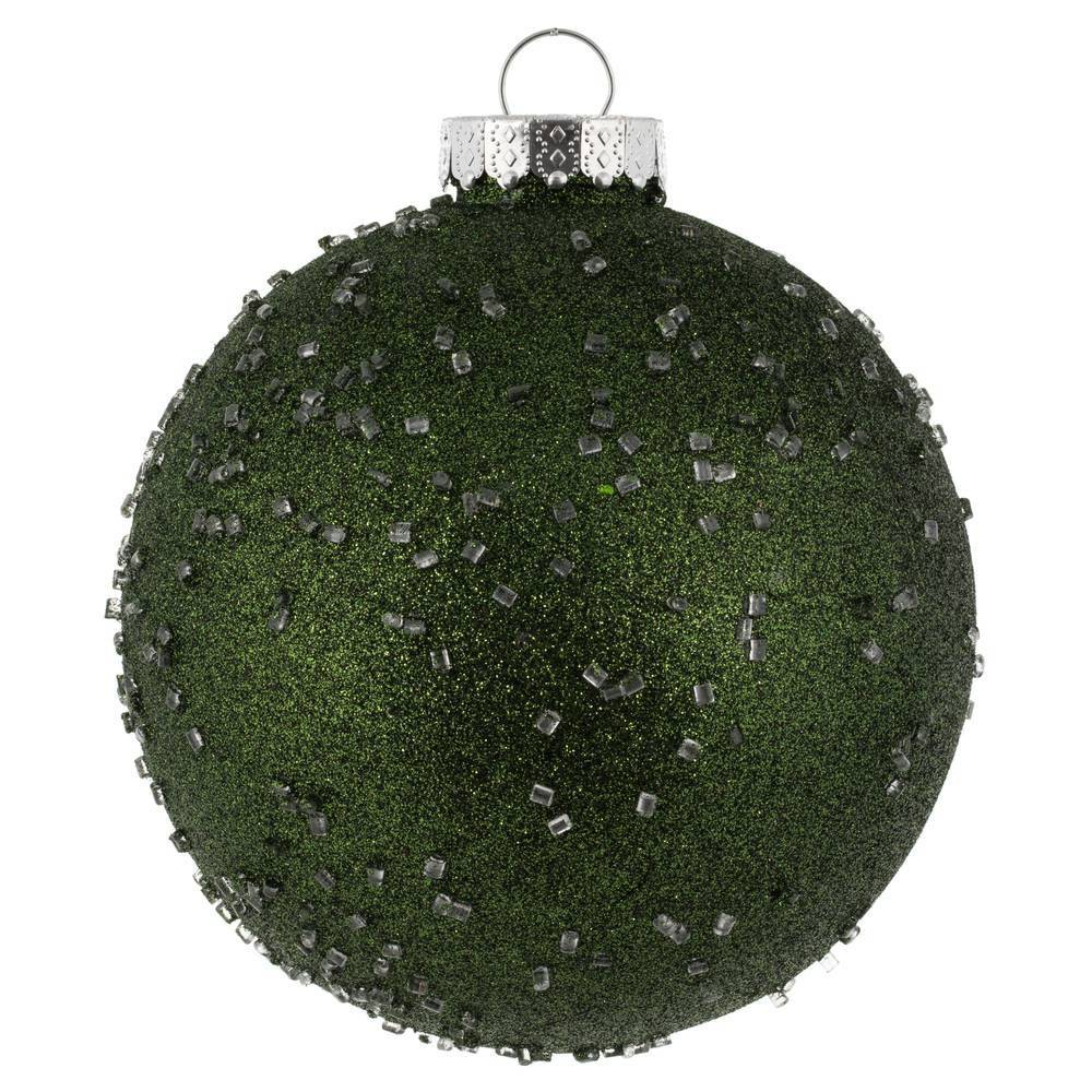 "Image of ""4ct Vickerman 6"""" Ornament Ball Moss Green Ice"""