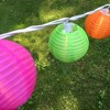 """10ct Electric String Lights with 3""""x7' Nylon Lanterns- Multi Color - image 3 of 3"""