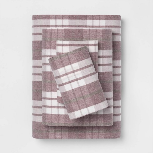 Printed Flannel Sheet Set - Threshold™ - image 1 of 1