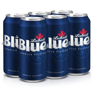Labatt Blue Canadian Pilsener Beer - 6pk/16 fl oz Cans