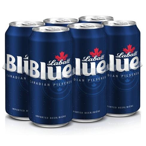 Labatt Blue Canadian Pilsener Beer - 6pk/16 fl oz Cans - image 1 of 2