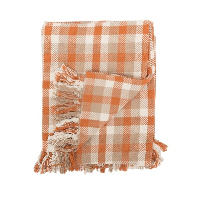 """C&F Home Dunmore Plaid Woven 50"""" x 60"""" Throw Blanket"""