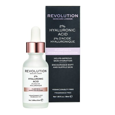 Makeup Revolution Skincare Plumping & Hydrating Serum - 2% Hyaluronic Acid - 1.01 fl oz