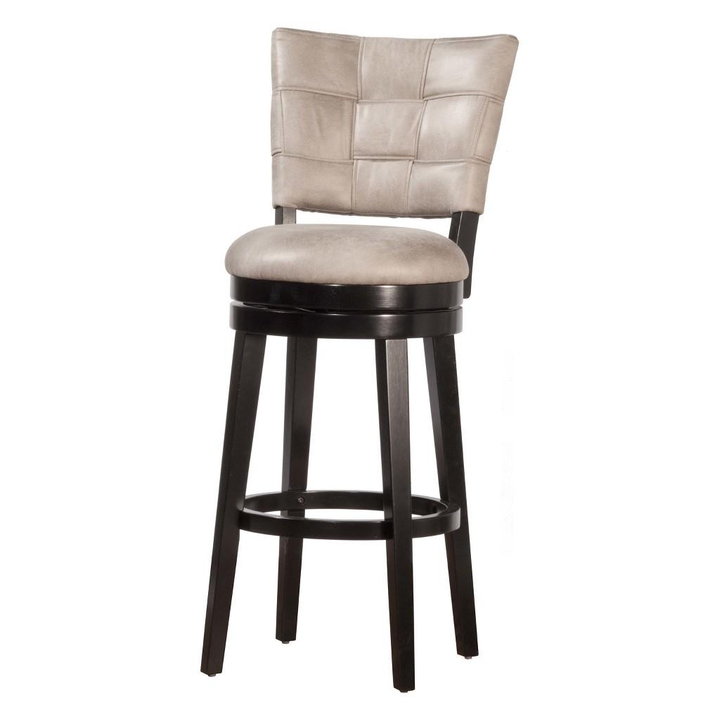 30 Kaede Swivel Bar Stool Black/Gray - Hillsdale Furniture