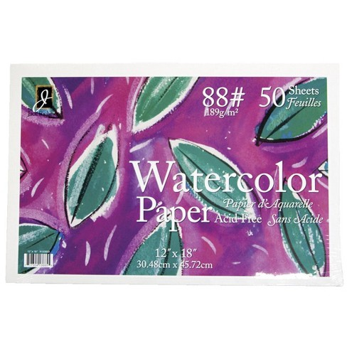 Jack Richeson Watercolor Paper, 12 x 18 Inches, 88 lb, White, 50 Sheets - image 1 of 1