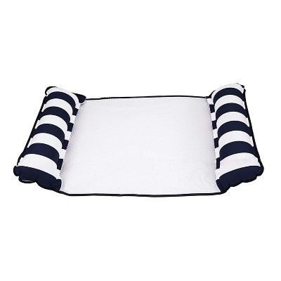 Aqua Leisure 4 in 1 Inflatable Monterey Hammock Beach Pool Float Chair Lounger, Navy Striped