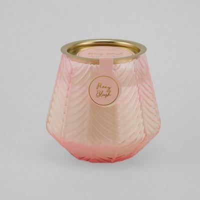 12oz Etched Glass Jar Candle Peony Blush - Opalhouse™