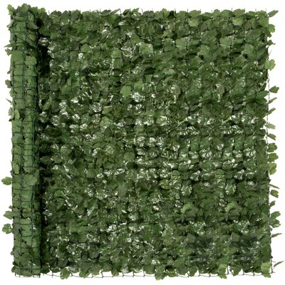 Best Choice Products 96x72in Artificial Faux Ivy Hedge Privacy Fence Screen for Outdoor Decor, Garden, Yard - Green