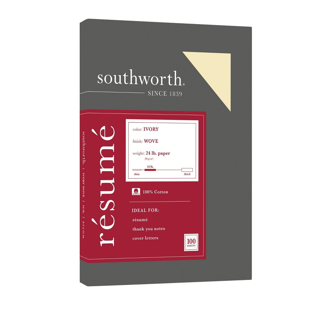 Image of Southworth Cotton Resume Paper - Ivory