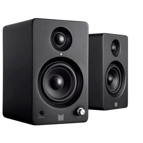 Monolith MM-3 Powered Multimedia Speakers - Black (Pair) With AptX Bluetooth, Fron Headphone Jack, Digital Calss D - image 1 of 4