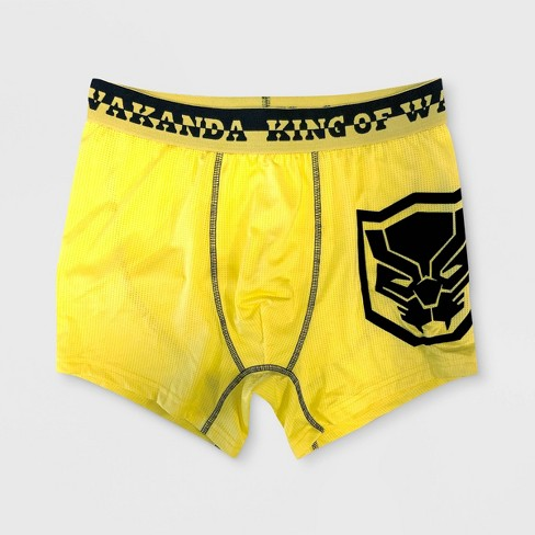 Men's Marvel Black Panther Boxer Briefs - Yellow - image 1 of 1