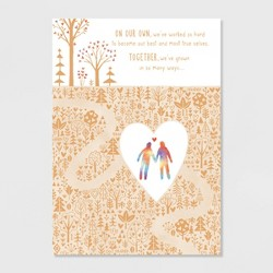 Together We've Grown Valentine's Day Greeting Card