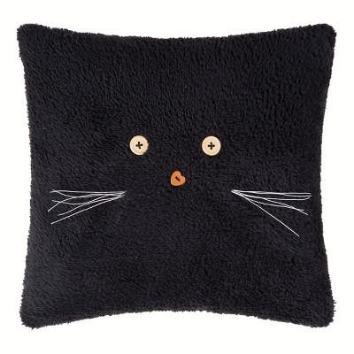 "Gallerie II 12"" x 12"" Black Cat Pillow"