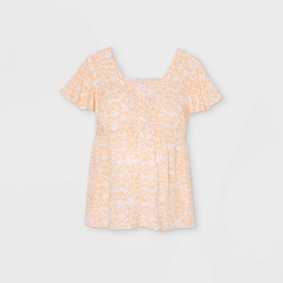 Flutter Short Sleeve Woven Maternity Blouse - Isabel Maternity by Ingrid & Isabel™