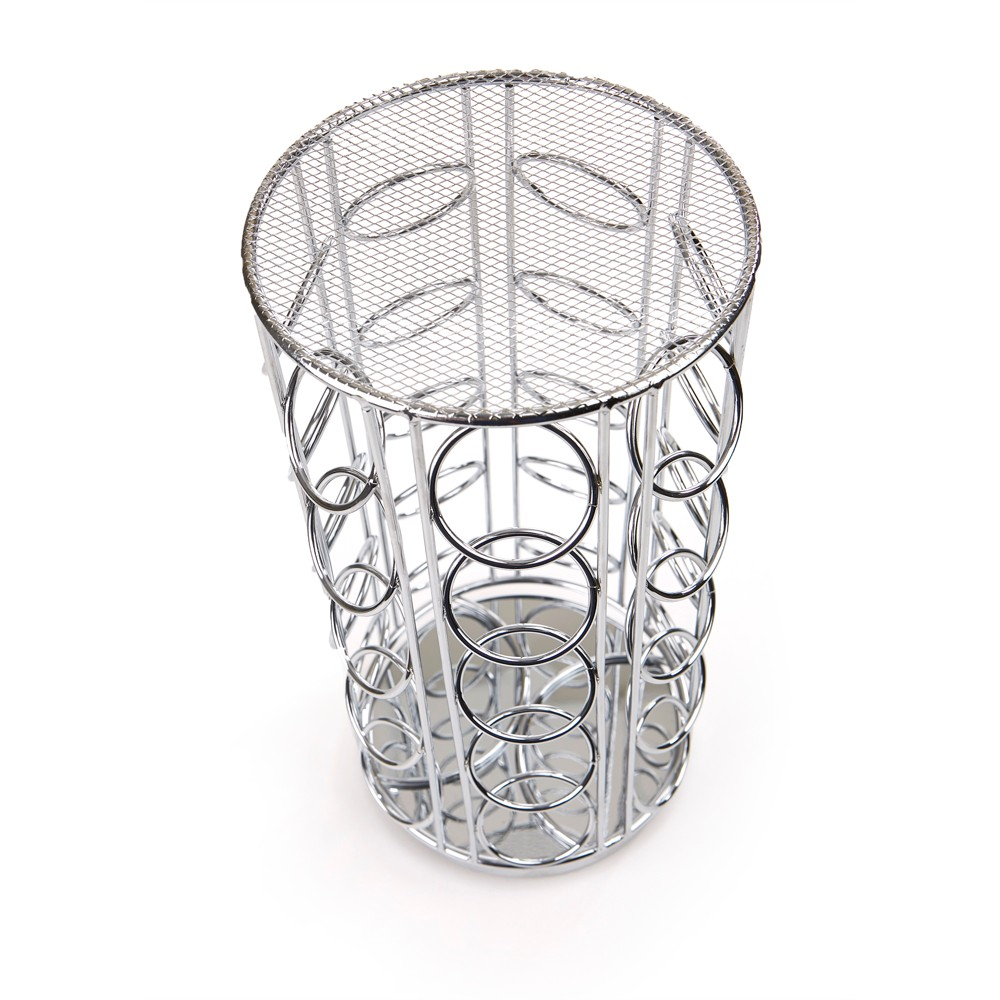 Mind Reader 35 Capacity Metal Mesh K-Cup Single Serve Coffee Pod Holder - Silver, Black