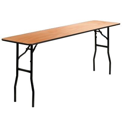 Riverstone Furniture Collection Fold Training Table Natural