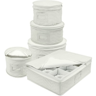 5pc Sorbus Dish Storage Set White