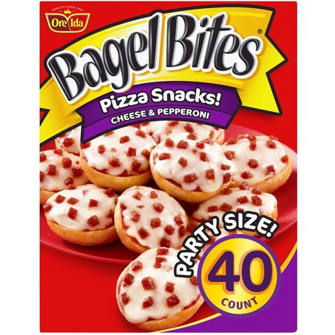Ore-Ida Bagel Bites Cheese and Pepperoni Frozen Pizza Snacks - 40ct - image 1 of 4