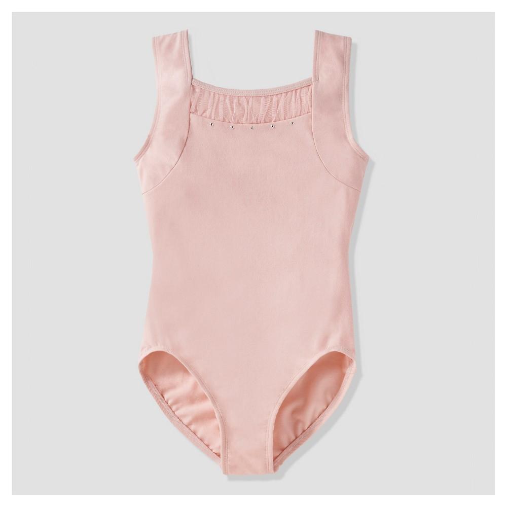 Girls Pink Glitter sleeveless leotard ALL SIZES dance gymnastics freestyle