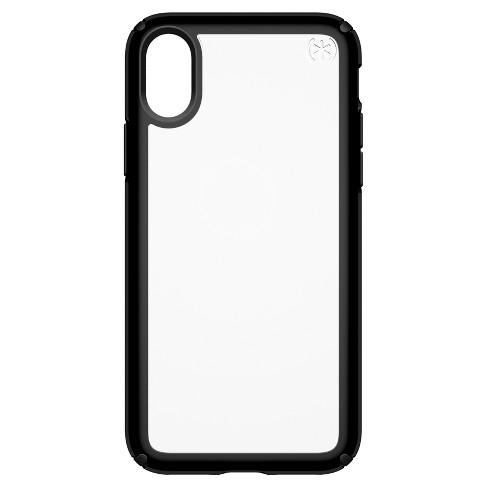 the best attitude 78051 bfaea Speck iPhone X Case Presidio Show - Black/Clear