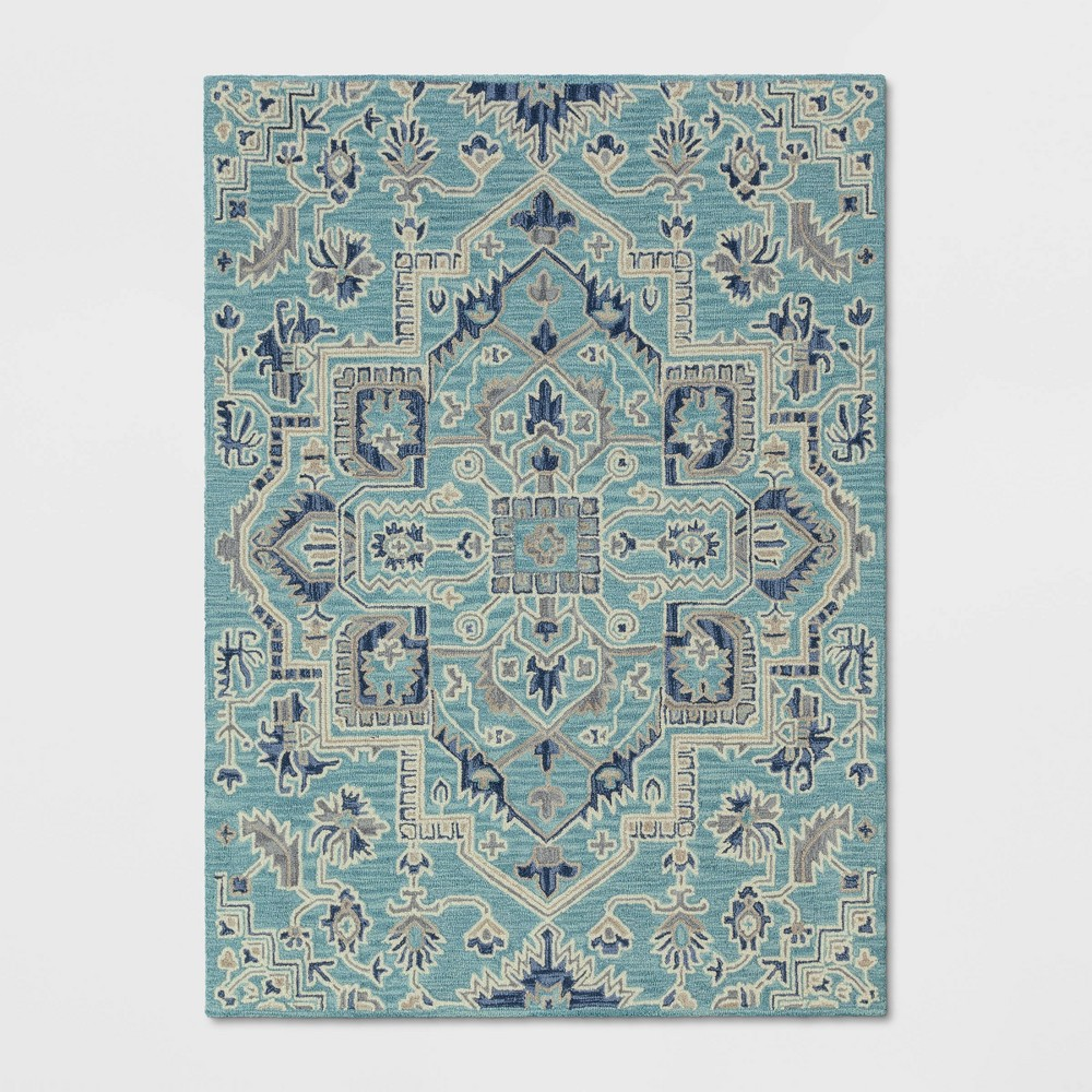 5'X7' Hyssop Jacquard Tufted Area Rug Teal - Opalhouse was $179.99 now $89.99 (50.0% off)