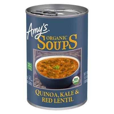 Amy's Organic Gluten Free Quinoa, Kale & Red Lentil Soup - 14.4oz