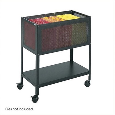Steel Mesh Tub File with Open Top in Black-Safco