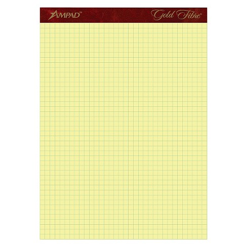 Ampad Gold Fibre Canary Quadrille Pad - 8 - 1/2 x 11 - 3/4 - Canary (50 Sheets) - image 1 of 1