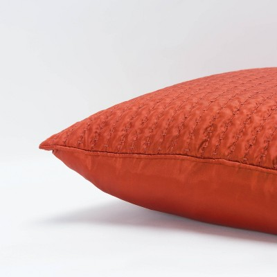 """22""""x22"""" Solid Polyester Filled Pillow - Rizzy Home : Target"""