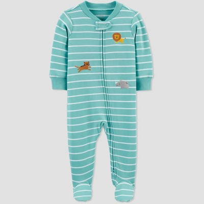 Baby Boys' Tiger Striped Sleep N' Play - Just One You® made by carter's Blue