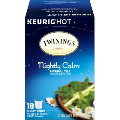 Twinings Nightly Calm Herbal Tea - Keurig K-Cup Pods - 18ct
